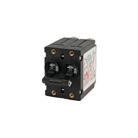 - New A-series Double Pole Ac/dc Circuit Breaker blue Sea Systems 7241 50A Black