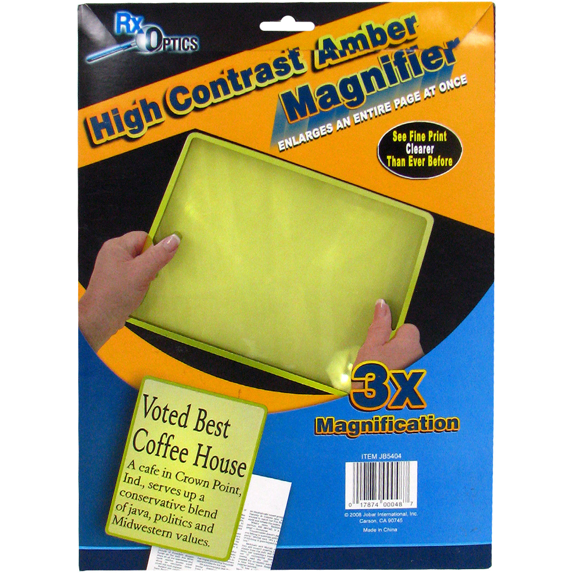 Trademark High Contrast Amber Magnifier, 3X Magnification