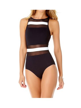 f53ed7881 Product Image Women s Anne Cole 19MO033 Colorblock Mesh Spliced One Piece  Swimsuit