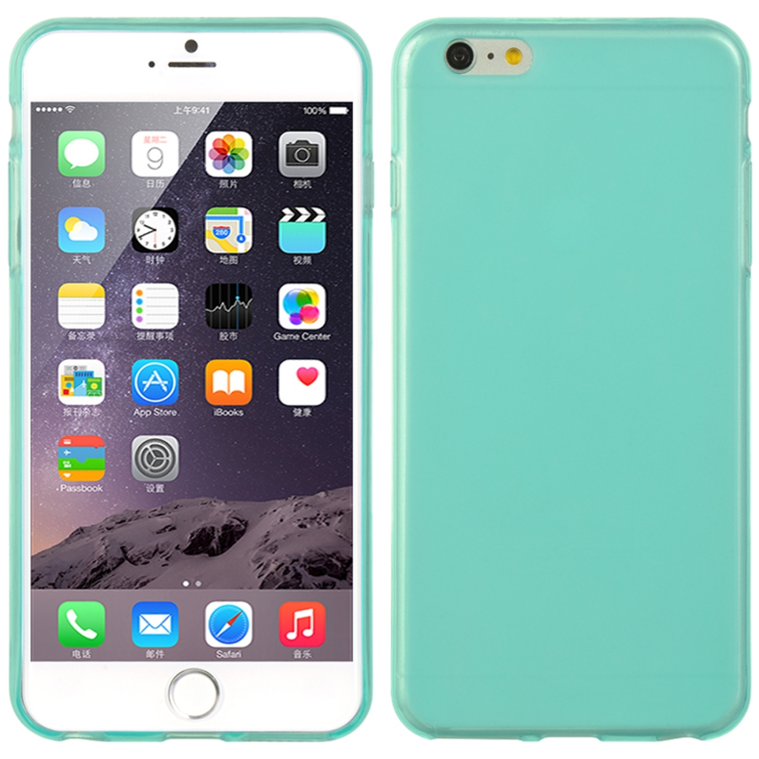 iPhone 6s Plus, iPhone 6 Plus Case, by Insten Crystal Skin Tinted TPU Rubber Gel Shell Case For Apple iPhone 6s Plus / 6 Plus