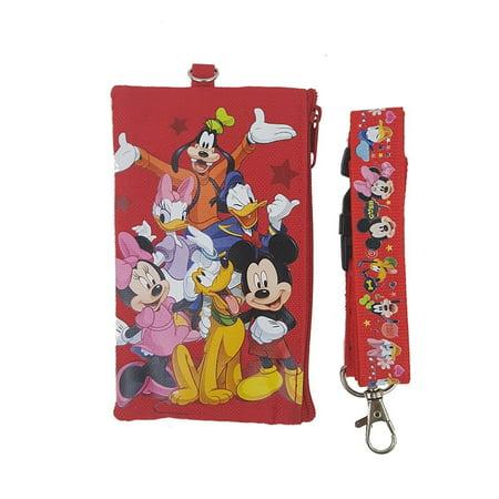 DISNEY MICKEY MINNIE FRIENDS LANYARD FASTPASS ID TICKET IPHONE BADGE HOLDER (RED)](Disney World Halloween Tickets)