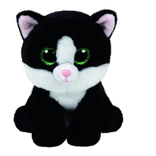 Ty Ava Black And White Cat Beanie Babies Stuffed Animal Plush Toy