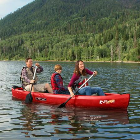 Lifetime 13' Kodiak Canoe, Red with 2 Bonus Canoe Paddles