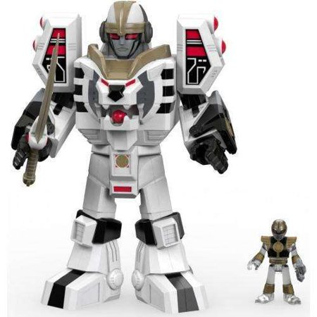 Fisher-Price Imaginext Power Rangers White Ranger & Warrior Mode Tigerzord - Power Ranger Toy Gun