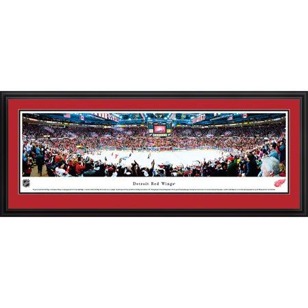 Detroit Red Wings -Center Ice at Joe Louis Arena Blakeway Panoramas NHL Print with Deluxe Frame and Double Mat by