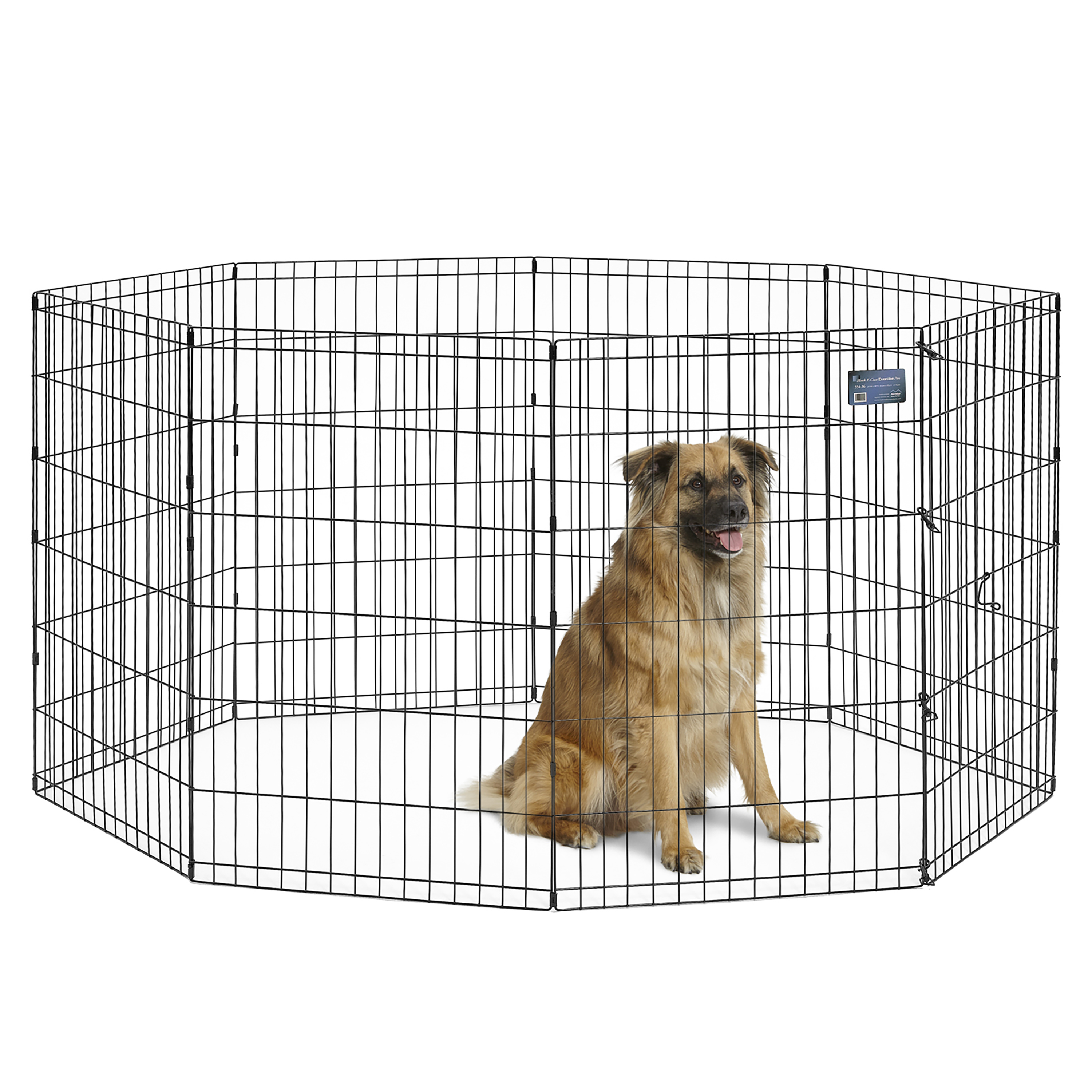 "MidWest Foldable Metal Exercise Pen / Pet Playpen, 24""W x 36""H"