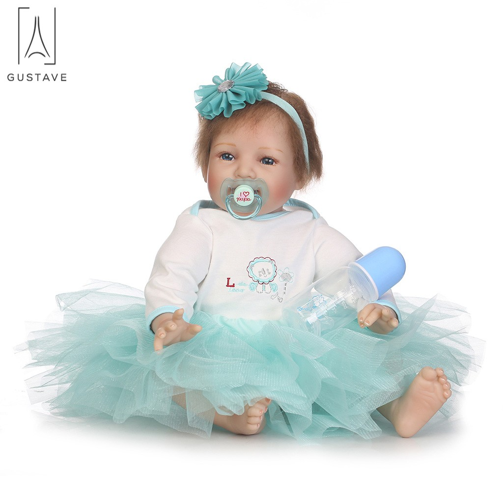 GustaveDesign Lifelike Reborn Baby Dolls Handmade Vinyl Silicone Toy for Ages 3+ Kids Birth Gift