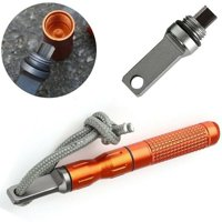 Outdoor Survival Camp Fire Starter Waterproof Magnesium Flint Stone Kit Camping Tool(Orange)