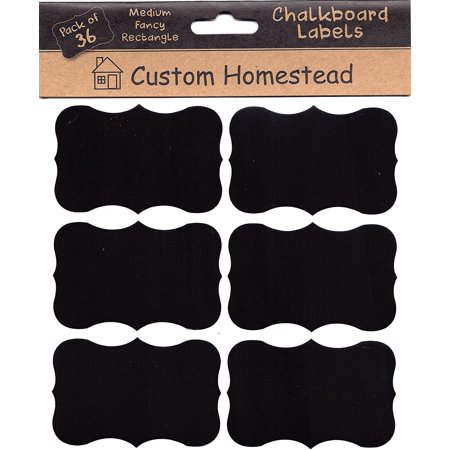 custom homestead large 3 x 2 fancy elegant chalkboard labels set