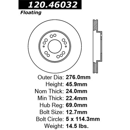 StopTech Power Slot 6/92-99 Eclipse Turbo AWD Slotted Left Front Rotor