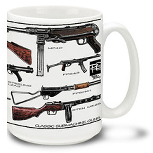 Cuppa 15-Ounce Coffee Mug with Classic SMGs