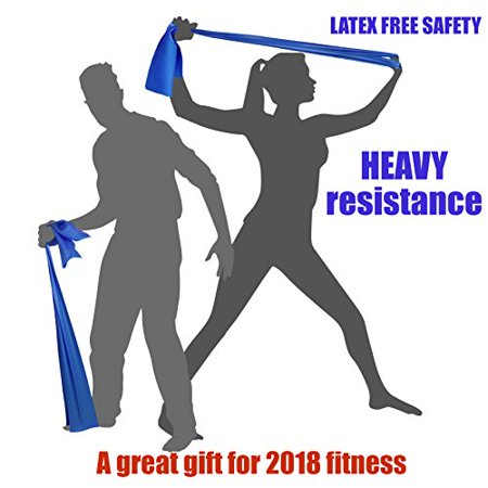 Heavy Tension Exercise Resistance Bands   Home Gym Fitness Equipment  Ideal For Physical Therapy  Strength Workout  Theraband  Pilates  Beachbody  Yoga  Mat  Rehab  Seated   Latex Free   6 5Ft