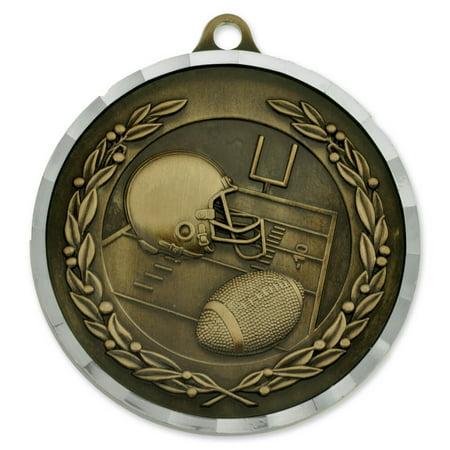 Football Award Sports Bulk Medal - Gold, Silver and Bronze! (Bulk Medals)