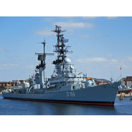 Canvas Print Destroyer Navy Military Ship Warship Stretched Canvas 10 x 14
