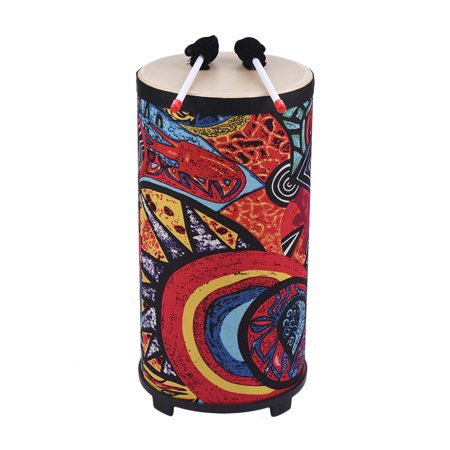 10 Inch Floor Drum Conga Konga Drum Hand Drum 4-feet Design with Attractive Fabric Art Surface Percussion Instrument for Gathering Rhythm (Kokopelli Design Drum)