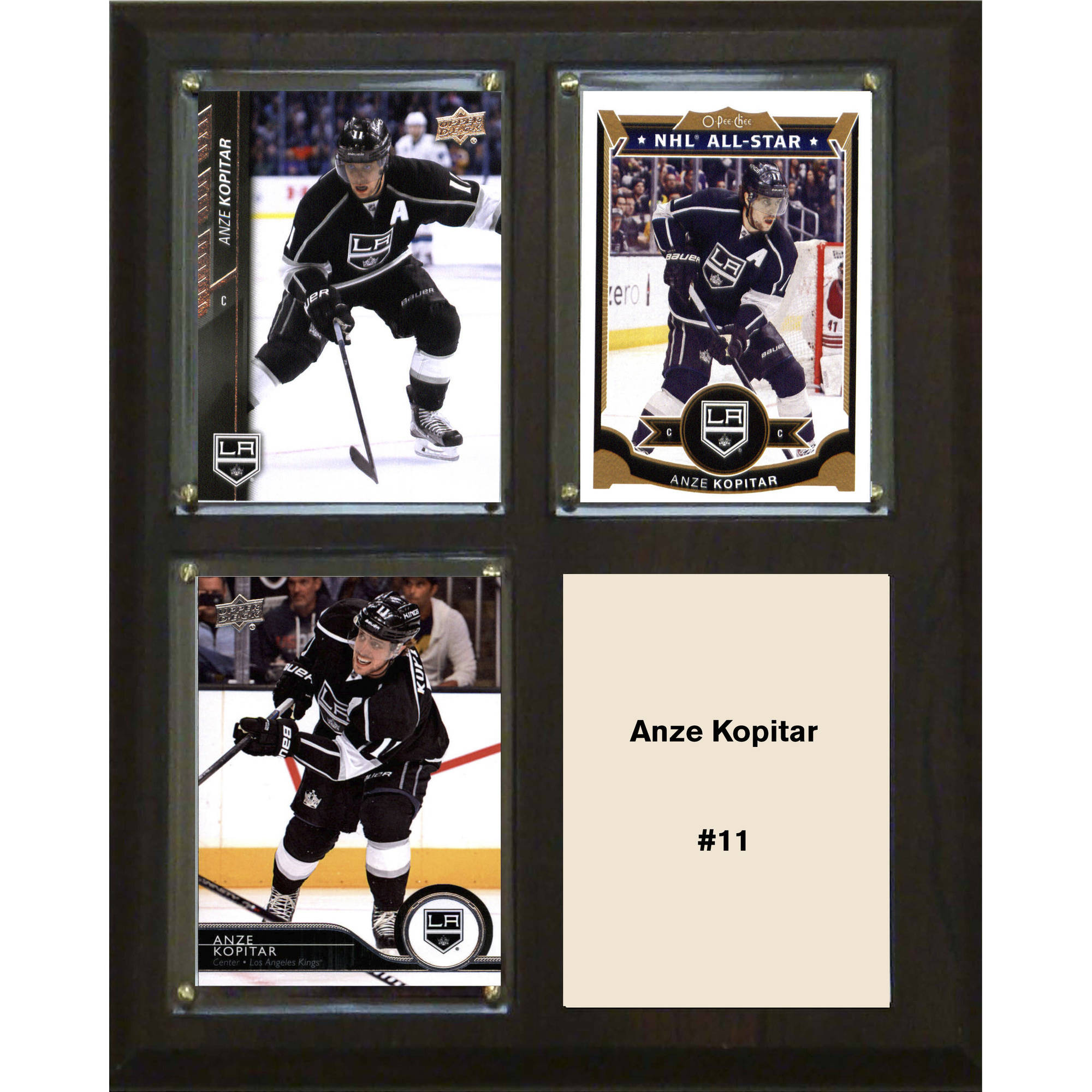 "C & I Collectables NHL 8"" x 10"" Anze Kopitar Los Angeles Kings 3-Card Plaque"