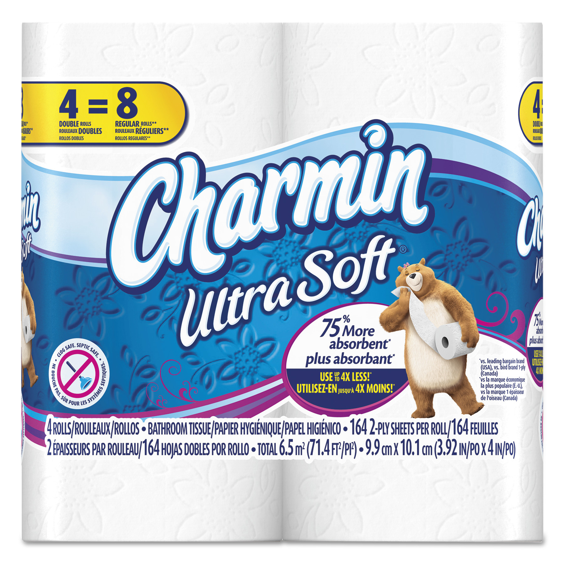 Charmin Ultra Soft Bathroom Tissue, 164 Sheets/Roll, 4 Rolls/Pack