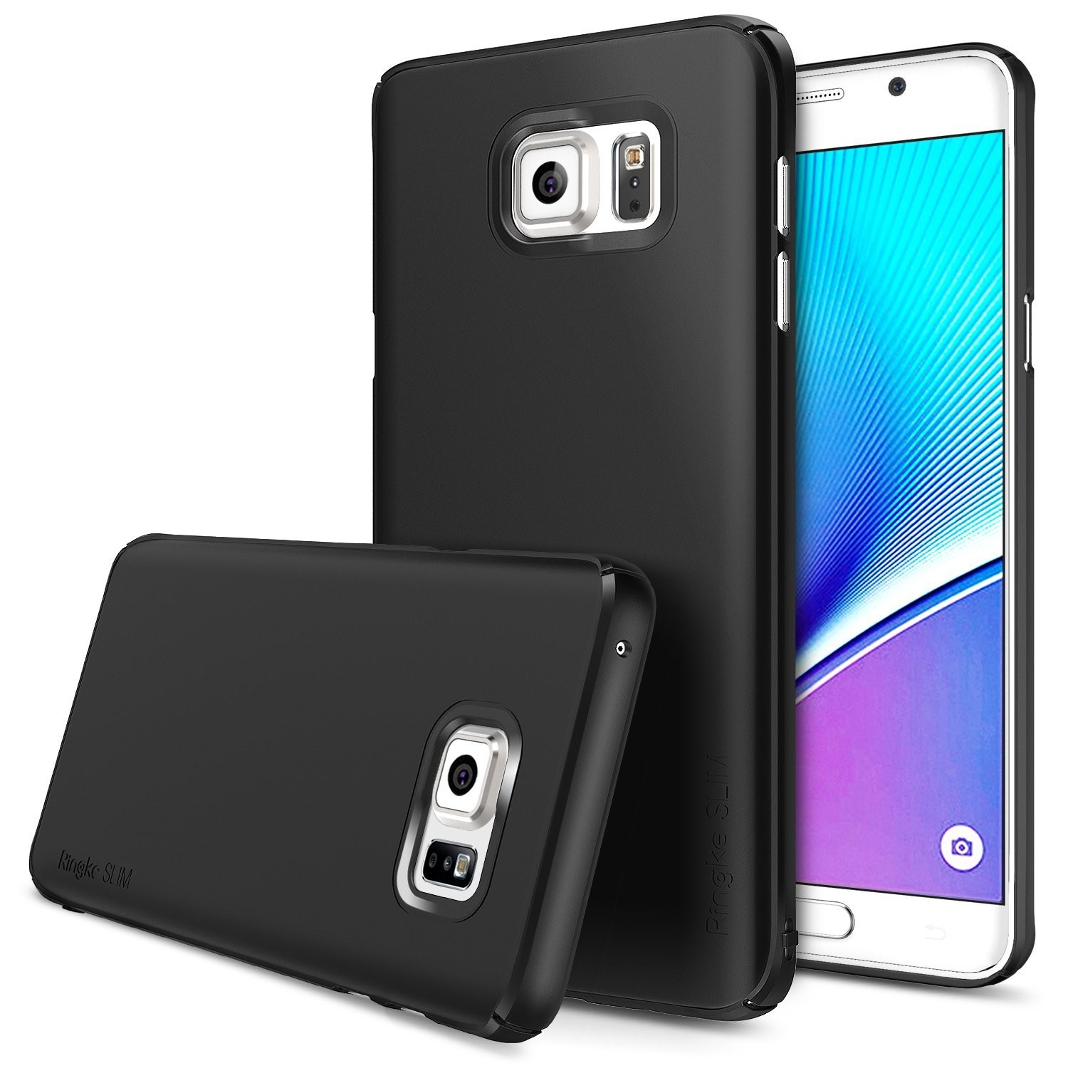Galaxy Note 5 Case, Ringke [SLIM] Snug-Fit Slender [Tailored Cutouts] Lightweight & Thin Scratch Resistant Dual Coating PC Hard Cover For Samsung Galaxy Note 5