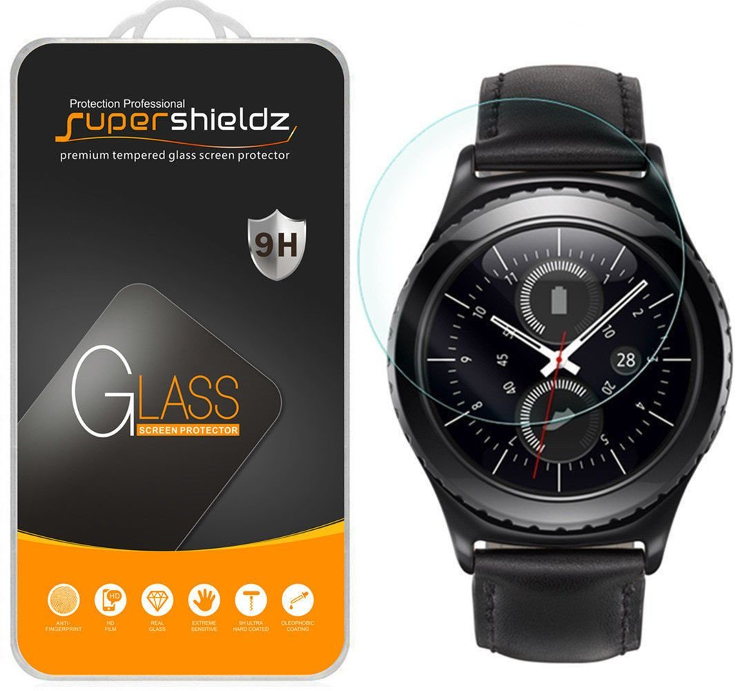 [1-Pack] Supershieldz Samsung Gear S2 Classic (3G/4G Connectivity Model Only) Tempered Glass Screen Protector, Anti-Scratch, Anti-Fingerprint, Bubble Free