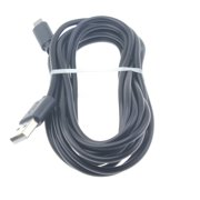 MicroUSB 10ft USB Cable Charger Cord Power Wire Long R4V for Dell Venue 8 Pro - Doro 824 SmartEasy - Huawei MediaPad T1 10, Mate SE, Honor 7X - Kyocera DuraForce Pro - LG K40 K7 K10, Q6, K30