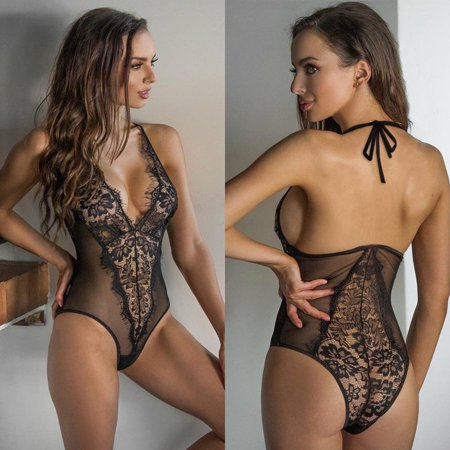Jumpsuit Teddy (NEW Women Sexy Lace Teddy Strap Sleepwear Romper Bobydoll Jumpsuit Lingerie )