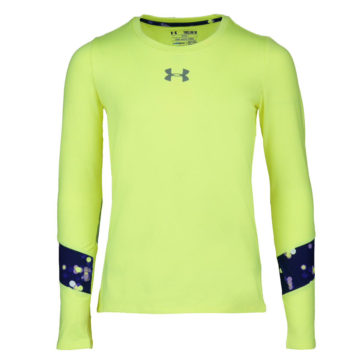 Under Armour Girls/' ColdGear L//S Shirt Cream S
