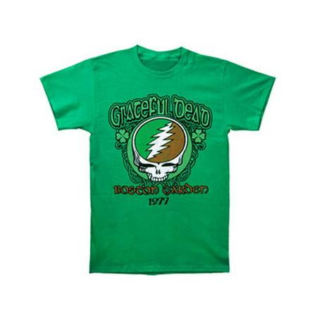 Grateful Dead Men's  Shamrock '77 Slim Fit T-shirt Green