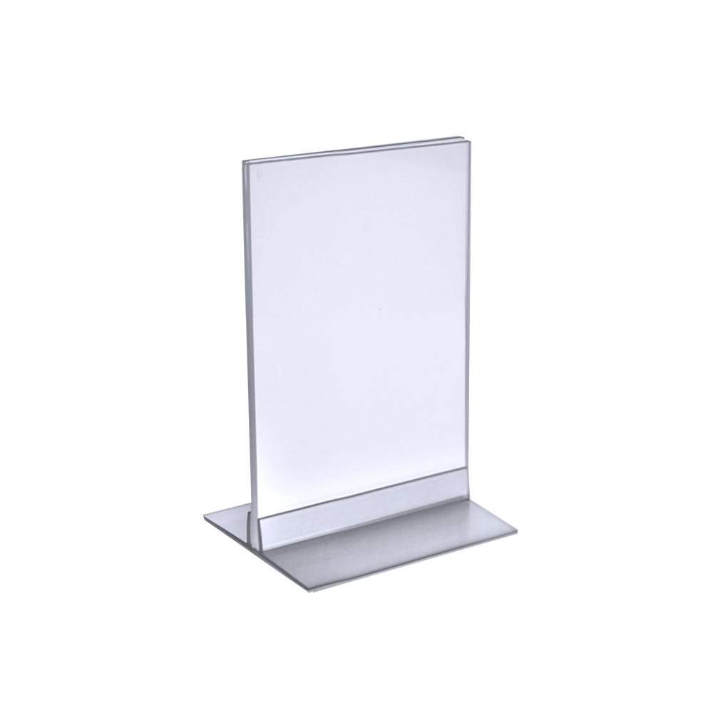 "Azar 102733 5.5"" x 8.5"" Acrylic Sign Holder with T-Strip Holder, 10Pack by Supplier Generic"