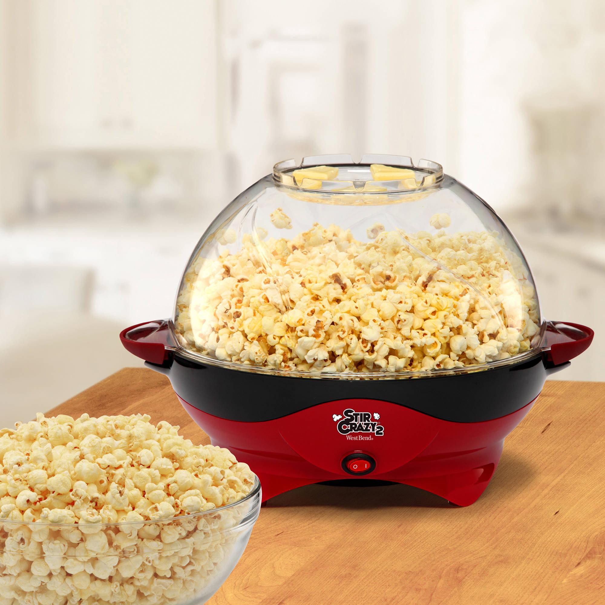 West Bend Stir Crazy Deluxe Popcorn Popper Red Walmart