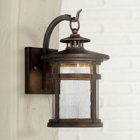 Franklin Iron Works Callaway 14 1 2 High Bronze Led Outdoor Wall Light