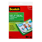 Scotch 9 x 12 Inches Laminating Sheets Letter Size Single Sided, 50 Pouches (SF854-1B)