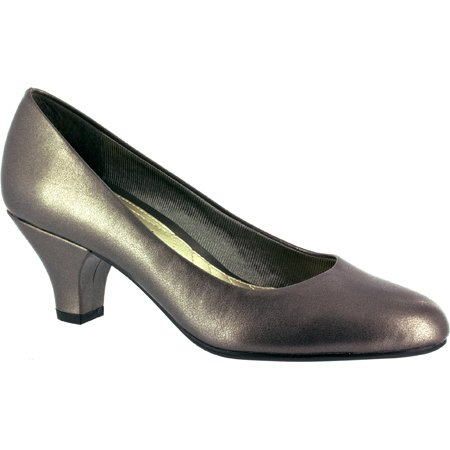 a55f71af1ab Easy Spirit - Womens Easy Street Fabulous Comfort Pumps - Pewter -  Walmart.com