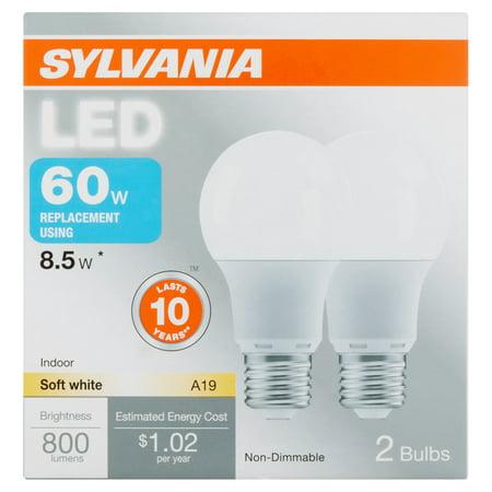 sylvania led 85w 60wt equiv 2 pack
