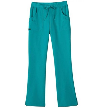 Classic Fit Collection by Jockey Women's Rib Trim Combo Comfort Tri Blend Scrub Pants X-Small Teal