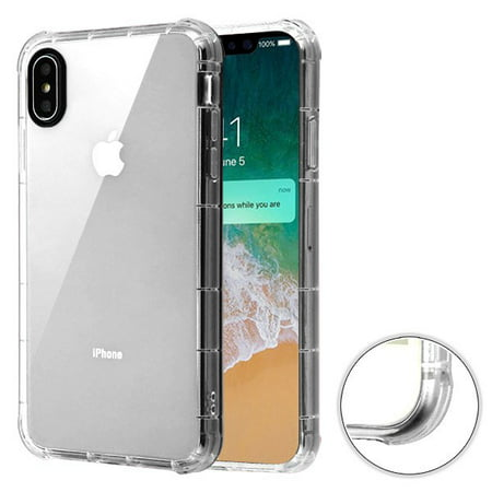 low priced 236ba a4e4c Apple iPhone Xs Max (6.5 Inch) - Phone Case Clear Shockproof Hybrid Armor  Rubber Silicone Gel Cover Transparent Clear Phone Case for Apple iPhone Xs  ...