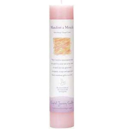 Crystal Journey Candle Pillar Manifest Miracle, 1 Each