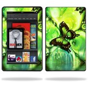 Skin Decal cover Sticker for Amazon Kindle Fire Tablet Black Butterfly