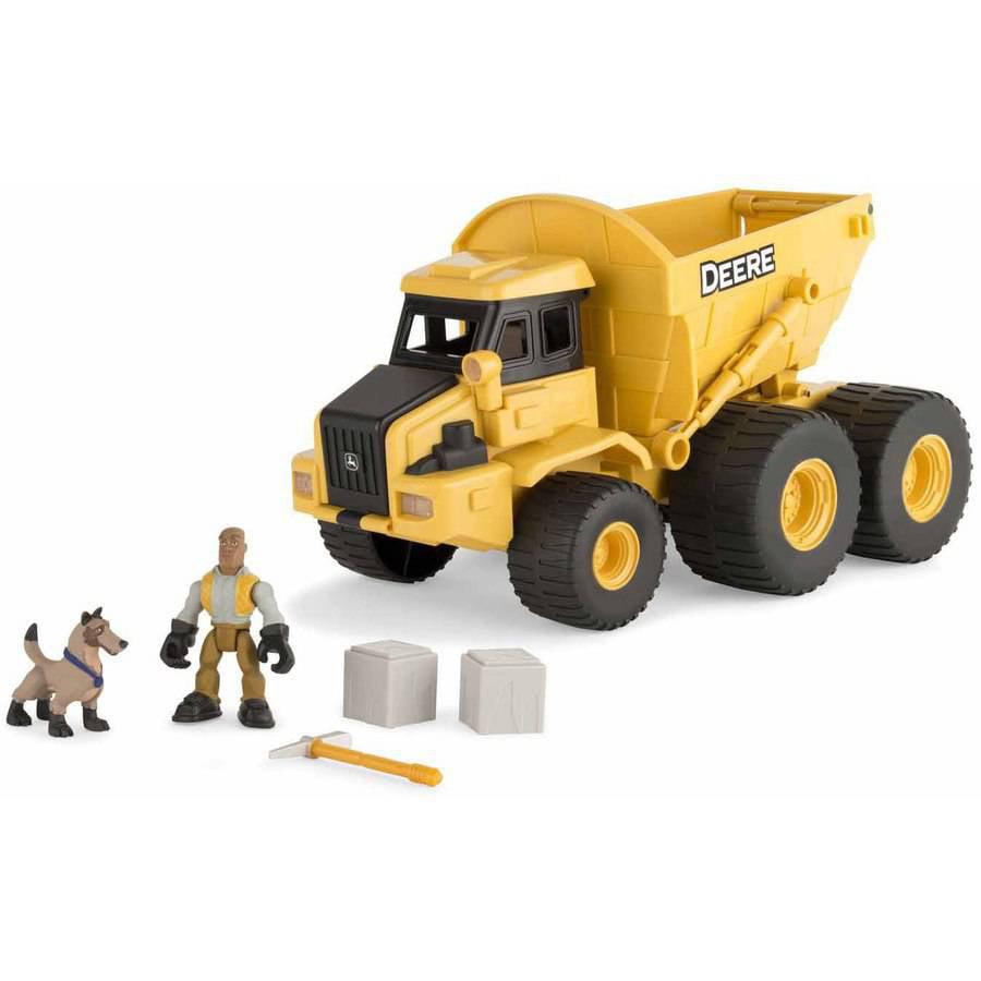 ERTL John Deere Gear Force Earth Moving Dump Truck Playset