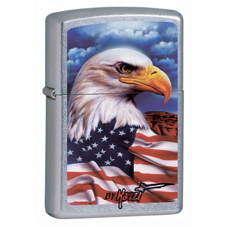 Zippo Mazzi American Eagle Street Chrome (American Lighter)