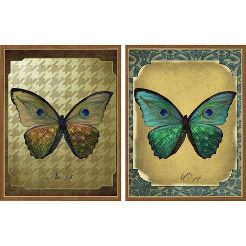 Botanical Butterfly, Set of 2