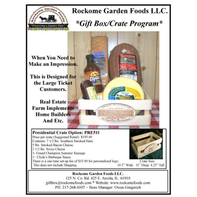 Rockome Garden Foods PRE511 Presidential Crate