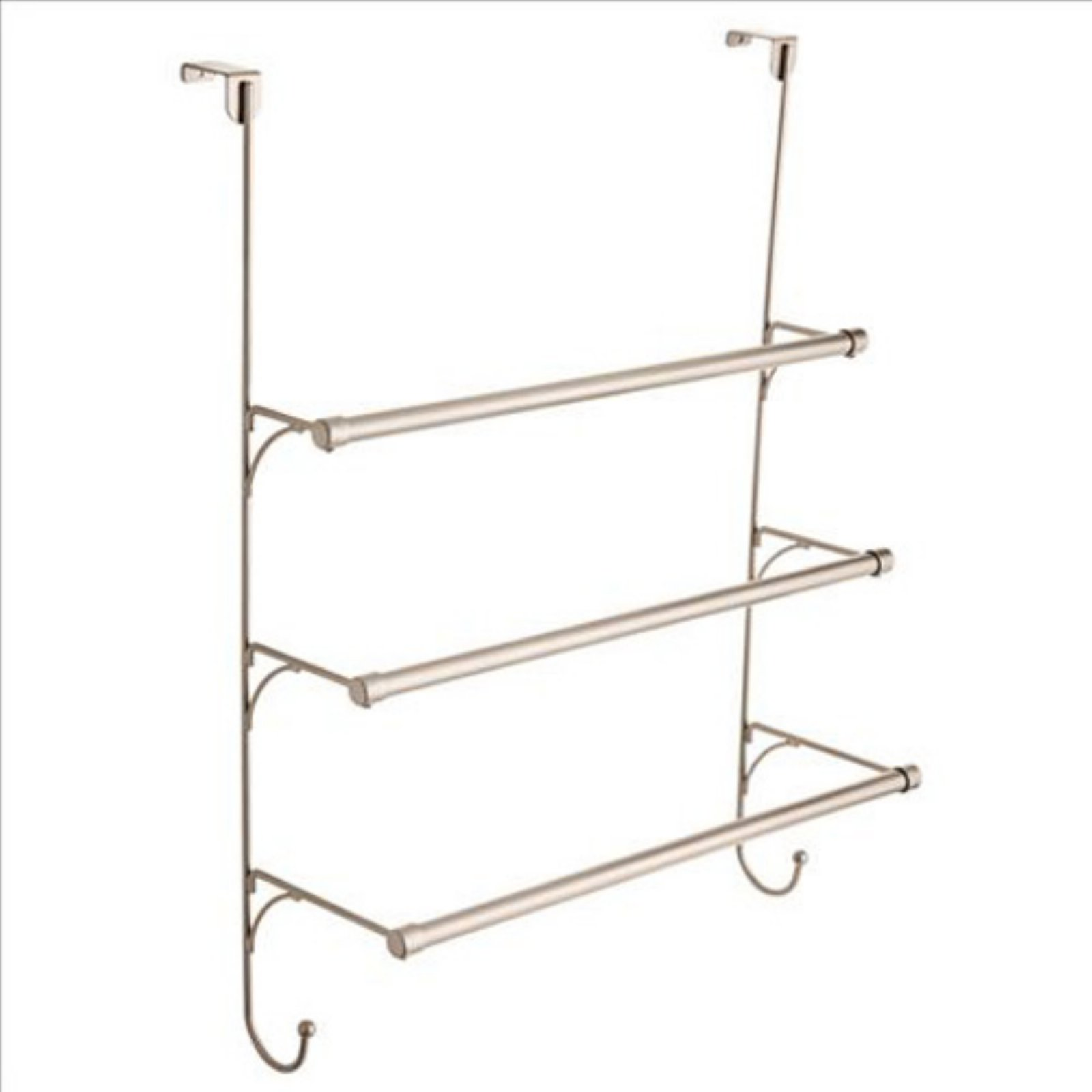 Franklin Brass Over The Door Triple Towel Rack With Hooks, Available In  Multiple