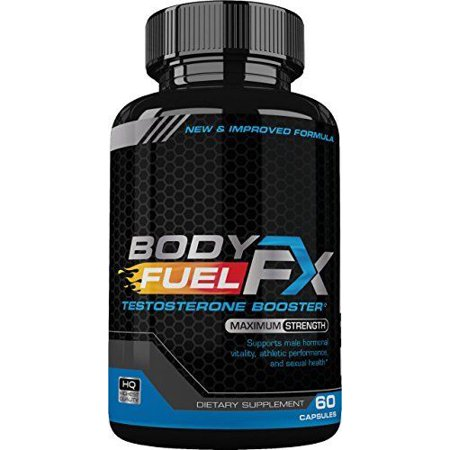 Body Fuel FX Testosterone Booster - Maximum Strength - Increase Vitality, Athletic Performance - Increase Fat
