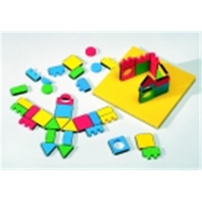 Edushape Magnetic Magic Shapes Classroom Pack, 54 Piece Set