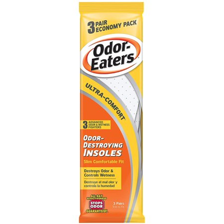 Image of Odor-Eaters Ultra Comfort Odor-Destroying Insoles, One Size Fits All, Economy Pack, 3 Pairs per Pack, (Case of 3 Packs), Destroys odor By OdorEaters