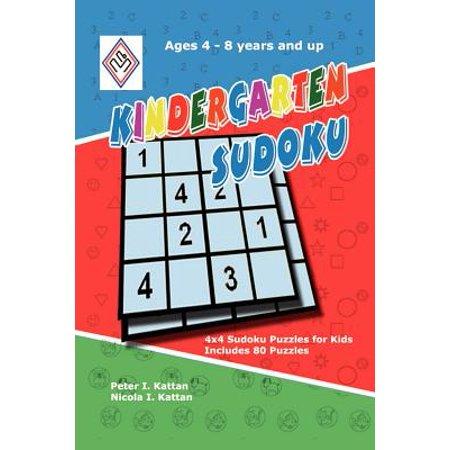 Kindergarten Sudoku : 4x4 Sudoku Puzzles for Kids (Easy Halloween Crafts For Kindergarten)