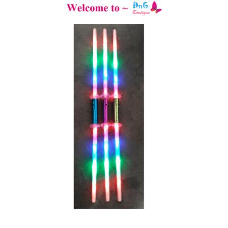 LWS LA Wholesale Store  1 Galactic Wars Dual Lightsaber 2 Sided Double Light Up Kids Star Toy Sword - Light Saber Swords