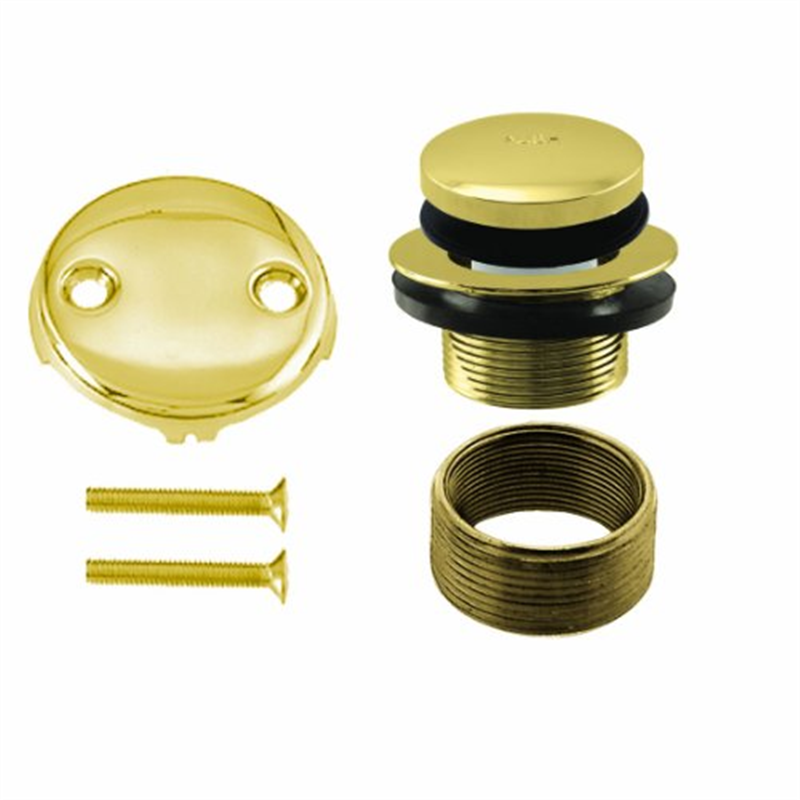 Universal Tip Toe Tub Waste Trim Kit in Polished Brass