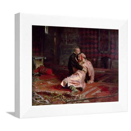 Ivan the Terrible and His Son on the 16th November, 1581, 1885 Framed Print Wall Art By Ilya Efimovich Repin