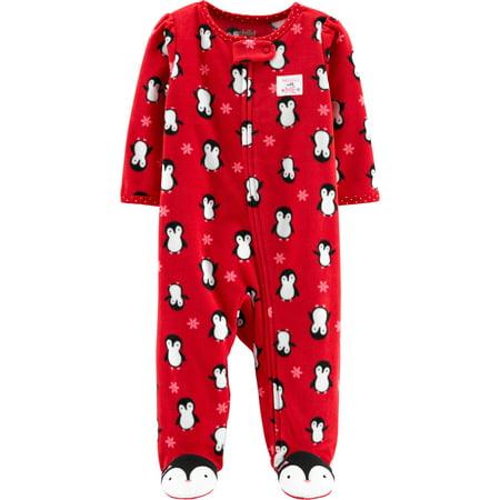 child of mine by carters christmas sleep n play pajamas baby girls walmartcom